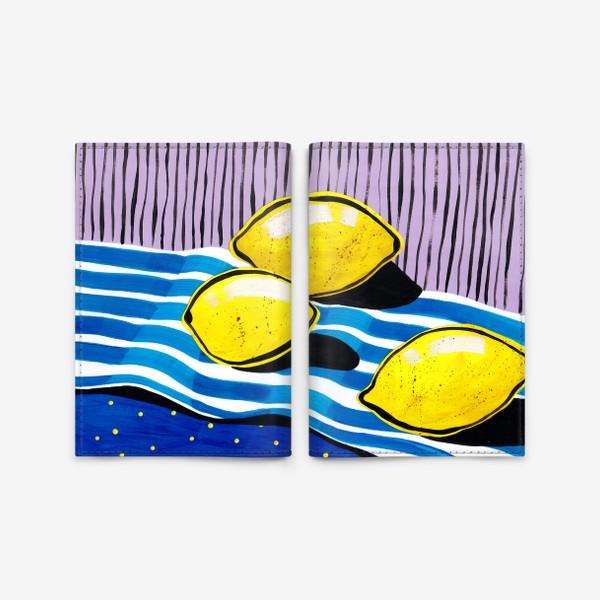 Обложка для паспорта «Желтые лимоны»