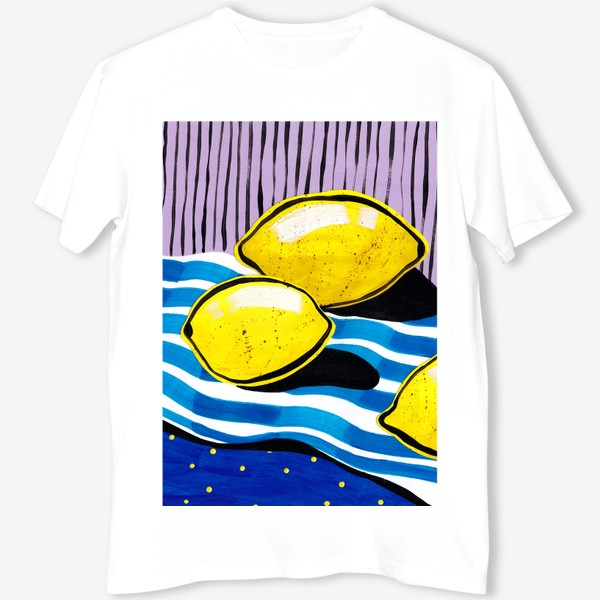 Футболка «Желтые лимоны»