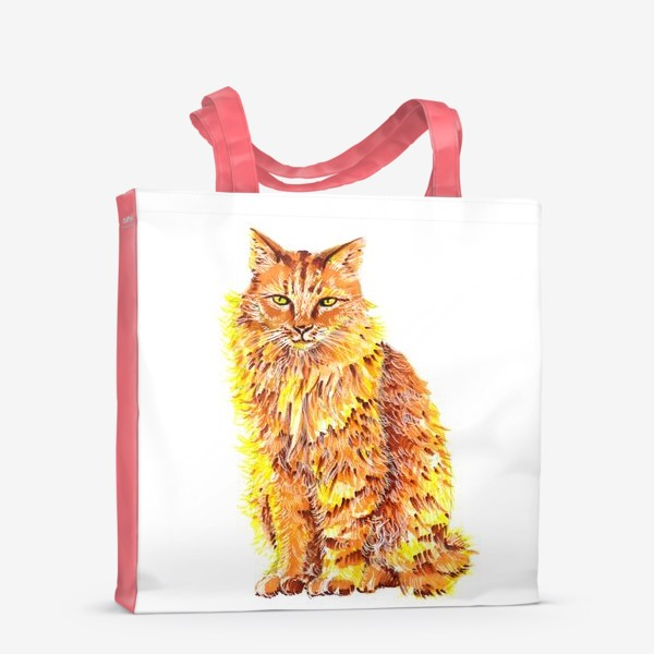 Сумка-шоппер «Пушистый рыжий кот»