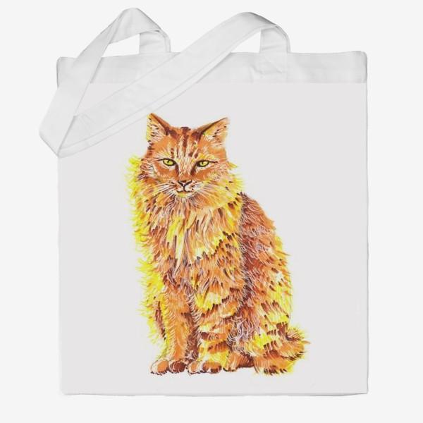 Сумка хб «Пушистый рыжий кот»