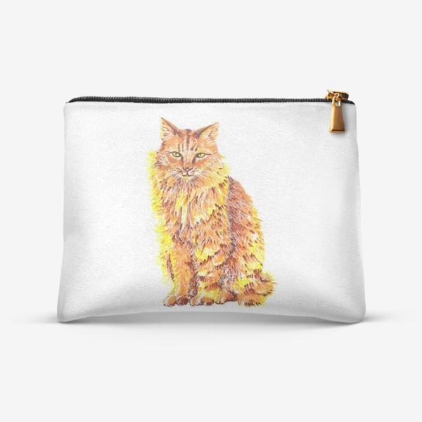 Косметичка «Пушистый рыжий кот»