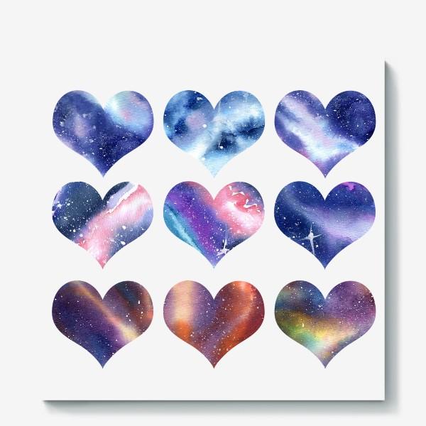 Холст «Космические сердца 2»