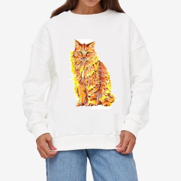 Свитшот «Пушистый рыжий кот»