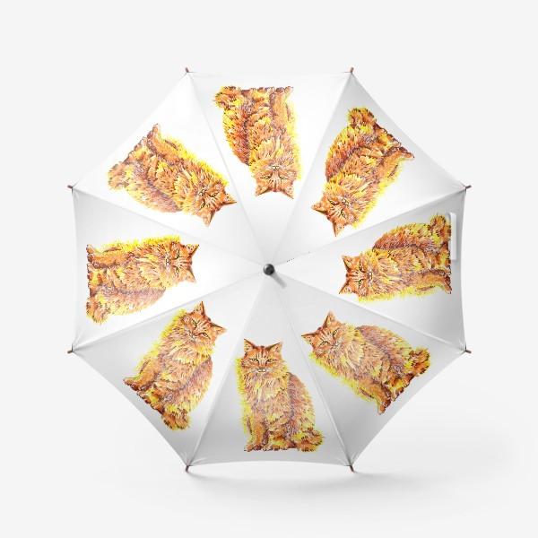 Зонт «Пушистый рыжий кот»