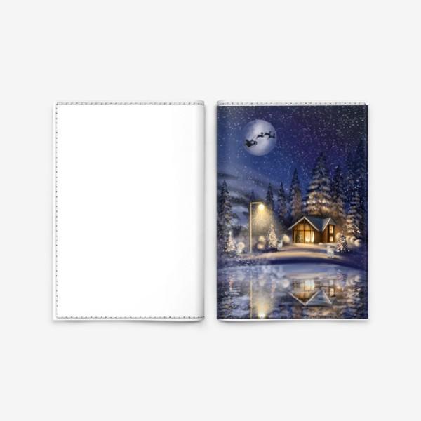 Обложка для паспорта «В ночь под Рождество »
