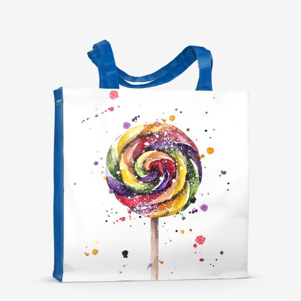 Сумка-шоппер «Цветной леденец на палочке»