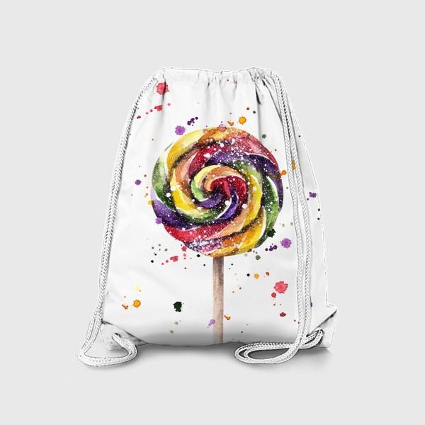 Рюкзак «Цветной леденец на палочке»