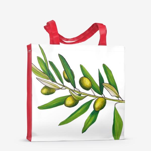 Сумка-шоппер «Олива. Оливковая ветвь. Оливки»
