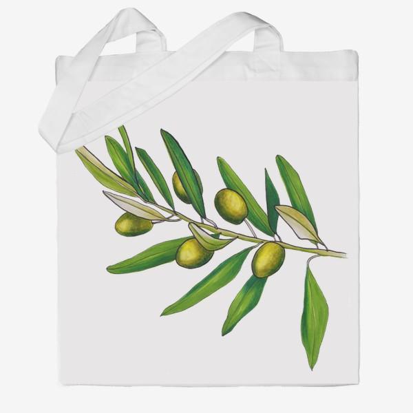 Сумка хб «Олива. Оливковая ветвь. Оливки»