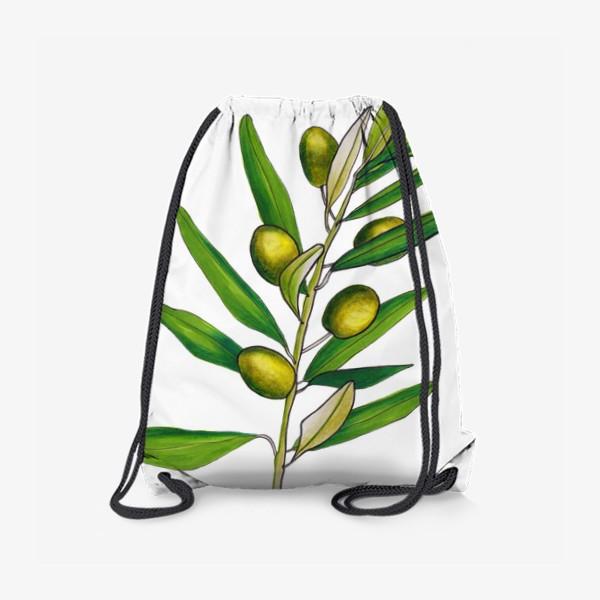 Рюкзак «Олива. Оливковая ветвь. Оливки»