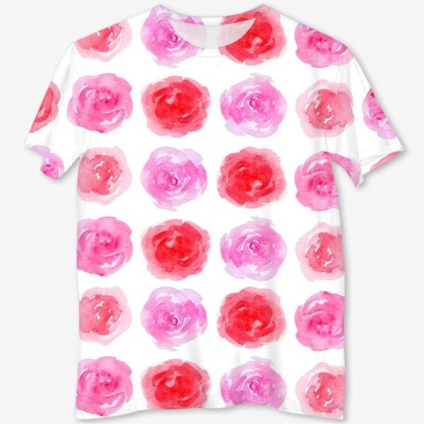 Футболка с полной запечаткой «Розы»