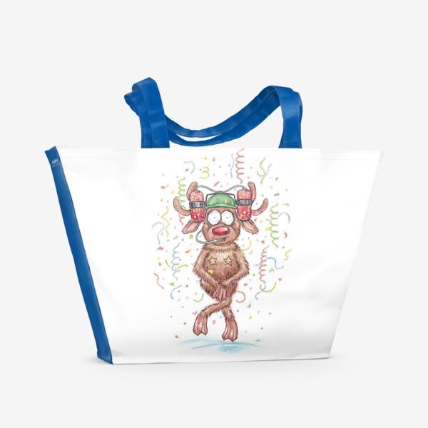 Пляжная сумка «Олень Вечеринка»