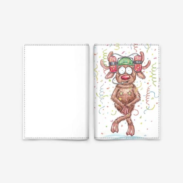 Обложка для паспорта «Олень Вечеринка»