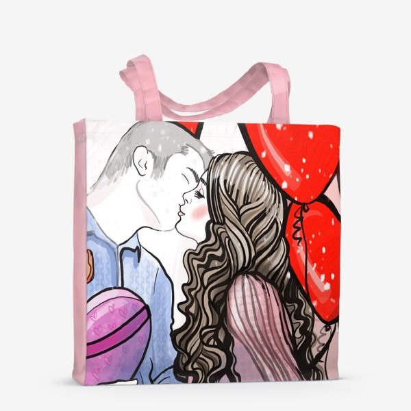 Сумка-шоппер «Поцелуй»