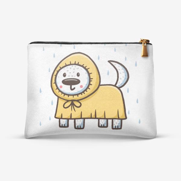 Косметичка «Милый щенок в дождевике»