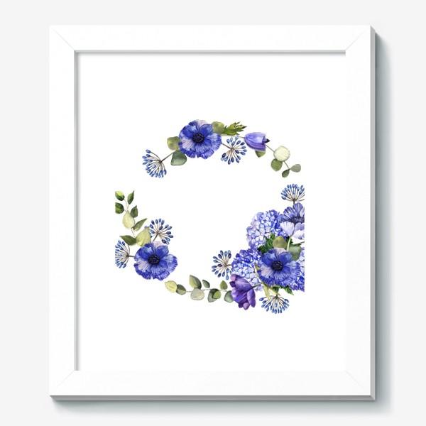 Картина «Венок с синими цветами»