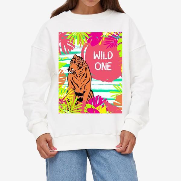 Свитшот «Тигр в джунглях»