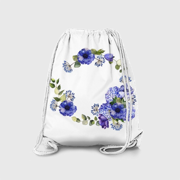 Рюкзак «Венок с синими цветами»