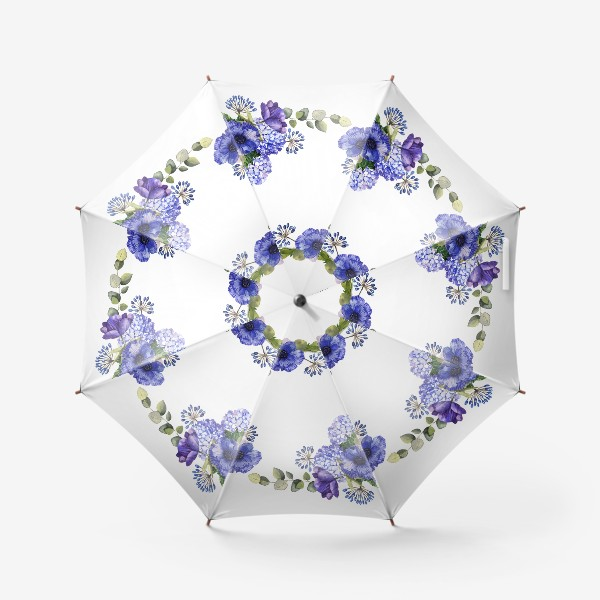 Зонт «Венок с синими цветами»