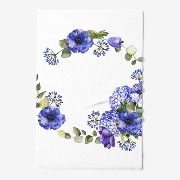 Полотенце «Венок с синими цветами»