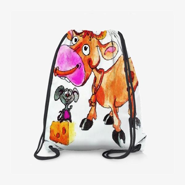 Рюкзак «Бычок и Мышонок»