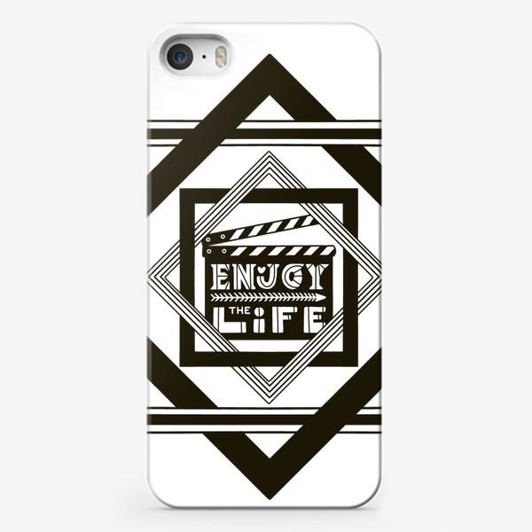 Чехол iPhone «Наслаждайся жизнью. Надпись Enjoy life»