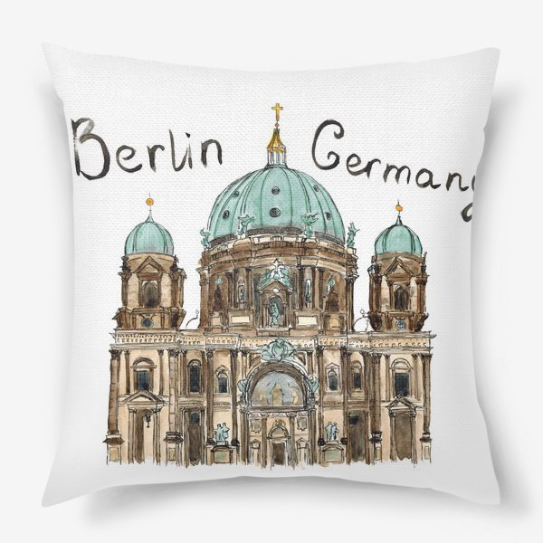 Подушка «Sketch Berliner Dom»