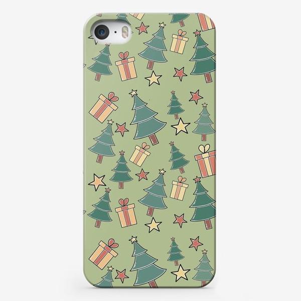 Чехол iPhone «Новогодний паттерн»