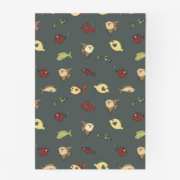 Постер «Разноцветные рыбки»