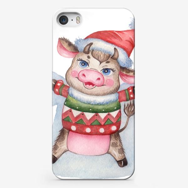 Чехол iPhone «Снежный бычок»