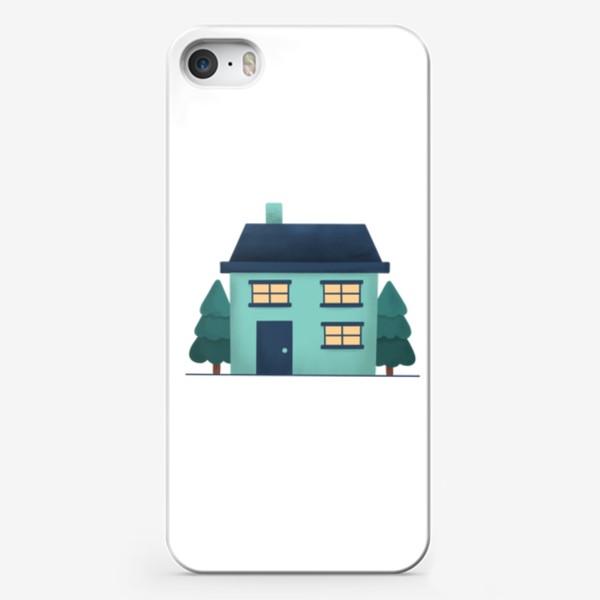 Чехол iPhone «Зима дом »