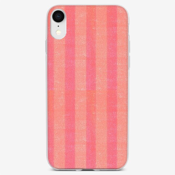 Чехол iPhone «Розовые полоски. Паттерн»