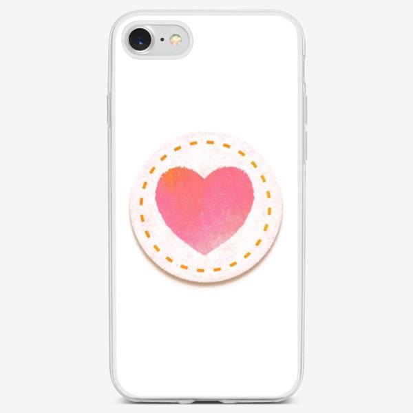 Чехол iPhone «Сердце. Нашивка»