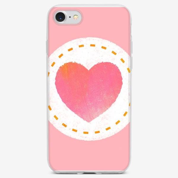 Чехол iPhone «Сердце. Нашивка. Валентинка»