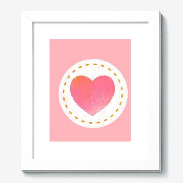 Картина «Сердце. Нашивка. Валентинка»