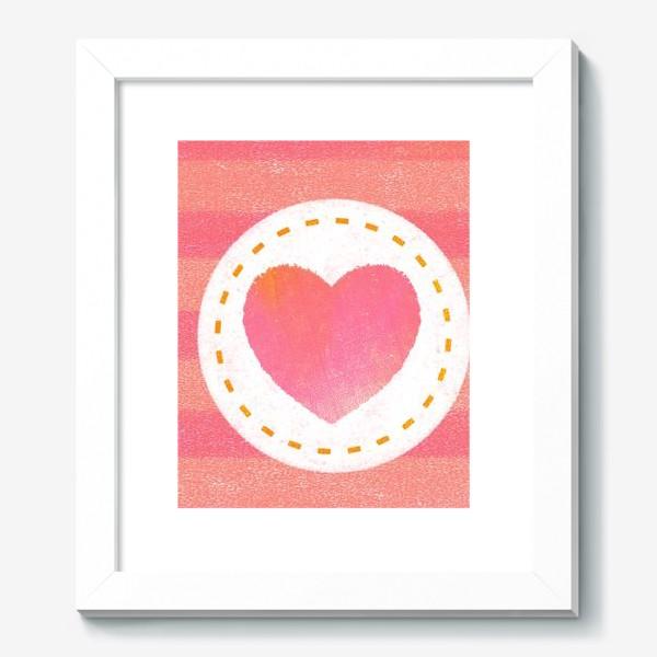 Картина «Сердце. Нашивка. Полоски»