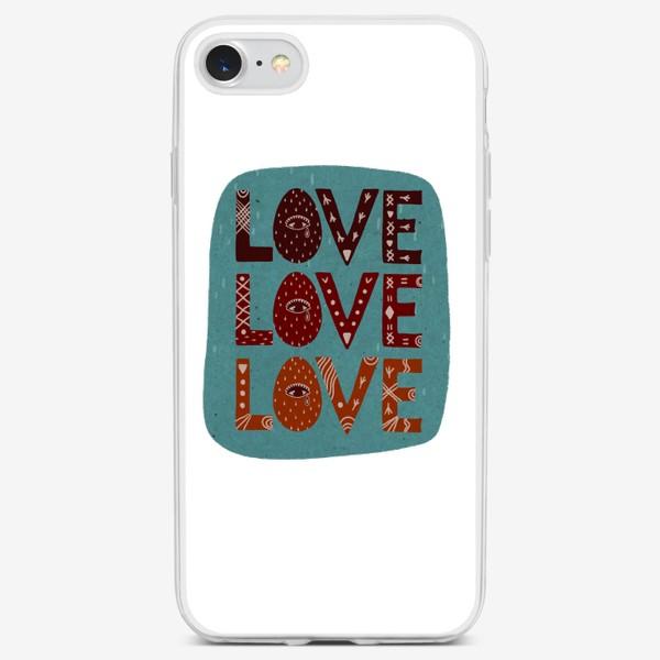 Чехол iPhone «Love. Любовь. Леттеринг. Надпись.»