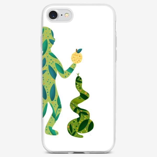 Чехол iPhone «Парный принт Ева»