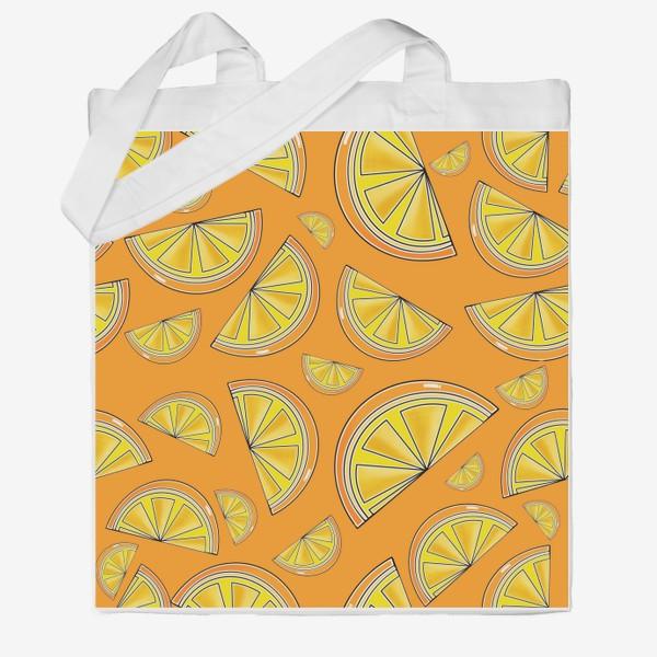 Сумка хб «Сочные апельсины»