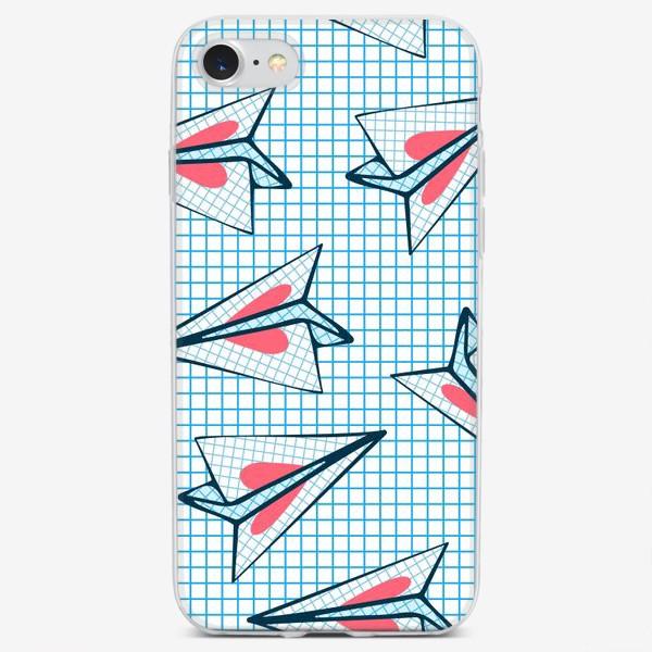 Чехол iPhone «Бумажные самолеты с сердцами. Школьная любовь. День Святого Валентина.»