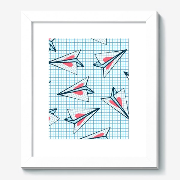 Картина «Бумажные самолеты с сердцами. Школьная любовь. День Святого Валентина.»