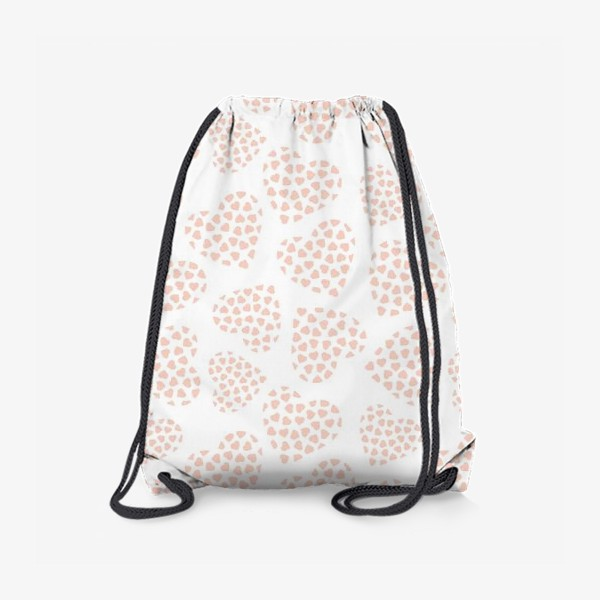 Рюкзак «Delicate hearts of peach color for lovers. Seamless pattern.»