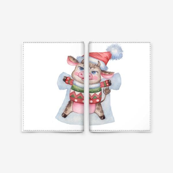 Обложка для паспорта «Снежный бычок»