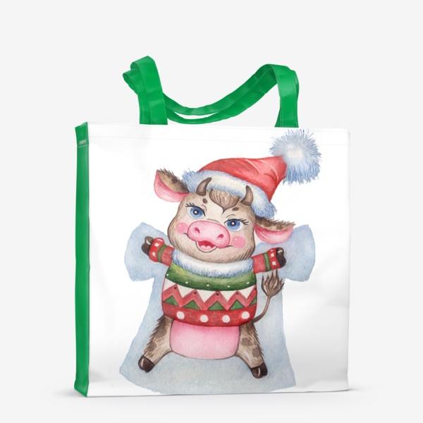 Сумка-шоппер «Снежный бычок»