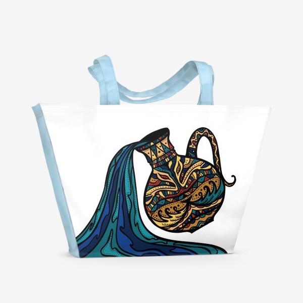 Пляжная сумка «Водолей »
