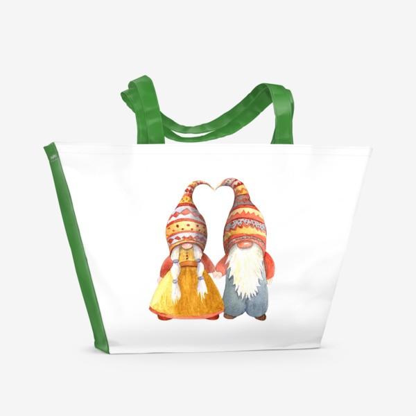 Пляжная сумка «Гномы - лю»