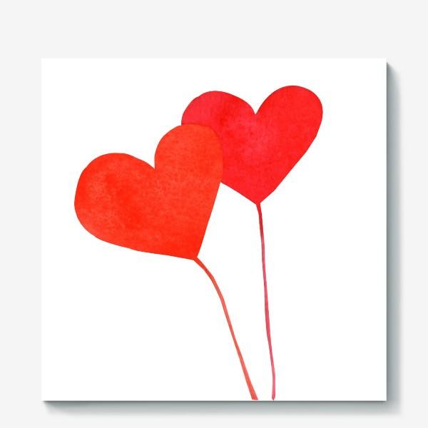 Холст «Два сердца»