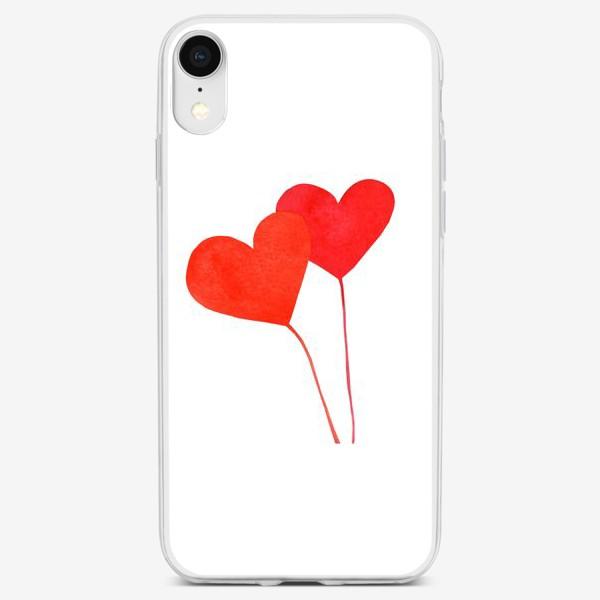 Чехол iPhone «Два сердца»