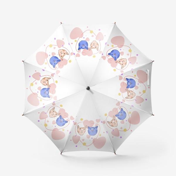 Зонт «Влюблённые котики»