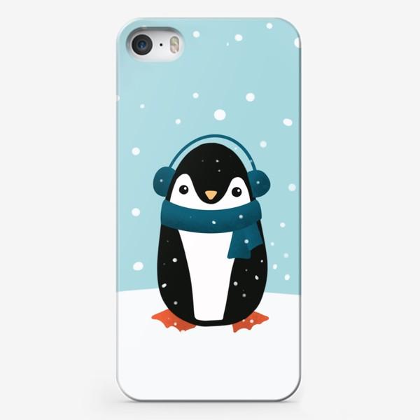 Чехол iPhone «Пингвин Зима»